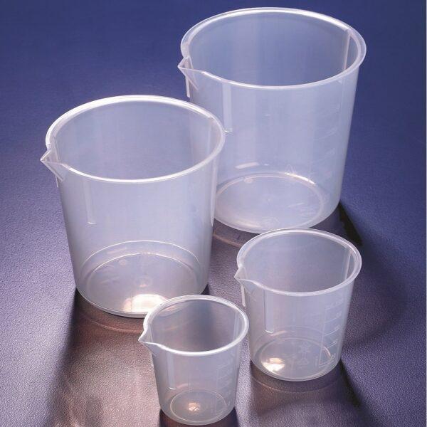 Beakers, plastic